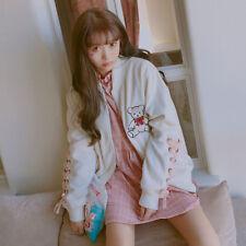 Japanese Woman Harajuku Lolita Coat Sweet Girl Cute Bear embroidery Jacket #Y4