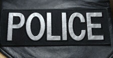 POLICE LAW ENFORCMENT REFLECTIVE SWAT TACTICAL BACK PANEL 11 X 4 HOOK  PATCH