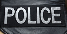 POLICE LAW ENFORCMENT REFLECTIVE SWAT TACTICAL BACK PANEL 11 X 4 VELCRO PATCH