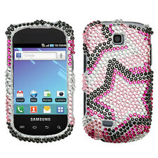 For Samsung Dart T499 Crystal Diamond Bling Hard Case Phone Cover Twin Stars