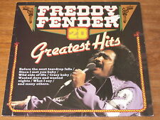 FREDDY FENDER - 20 GREATEST HITS - LP - Wild Side of Life, Mathilda, Crazy Baby