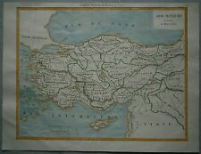 1863 Duvotenay map Asia Minor In Time Of Heraclitus (Ancient Greece)