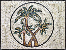 Palm Tree Yummy Dates Fruit Garden Design Home Marble Mosaic GEO1017