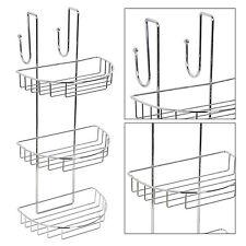 Cromo 3 Ducha De Almacenamiento De Baño Caddie Colgante intermedio Rack Estante Organizador cesta
