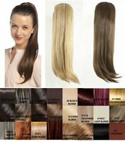 LADIES NEW TRENDY STRAIGHT CLIP IN 24'' PONYTAIL HAIRPIECE HAIR EXTENSION TULIP