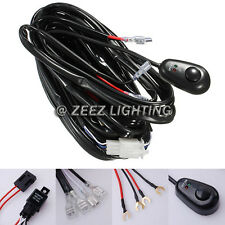 Fog Light Relay Harness Wiring Kit Switch HID LED Work Lamp Spot Driving Bar C01