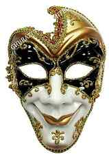 Evil Full Face Jester Masquerade Mask Halloween Adult Fancy Dress Accessory M432