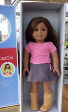 BNIB AMERICAN GIRL DOLL DARK EYES AND SILKY BROWN HAIR IN MOULD OF MARISOL