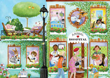 Animal Hospital-Wall Mural-10.5' wide by 8.0' high in feet