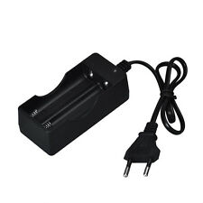 AC 110V 220V Dual Charger For 18650 3.7V Rechargeable Li-Ion Battery EU Plug