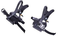 "PAIR BIKE VP PEDALS WITH TOE CLIP & STRAPS 9/16"" LIGHT WEIGHT BLACK LOW PRICE"