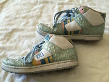 DC skateboard shoes Manteca 2 Mid Se Womens 9.5 Athletic Silver Blue Shoe (USED)
