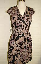 $195 MARC NEW YORK Andrew Marc WOMEN FLORAL PLUM COCKTAIL DRESS XS 2 PURPLE NW