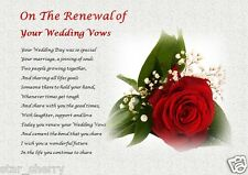 on the RENEWAL of YOUR WEDDING VOWS  (personalised gift)