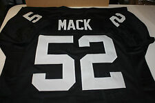 OAKLAND RAIDERS KHALIL MACK #52 CUSTOM HOME JERSEY SIZE XXL LINEBACKER