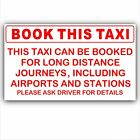 Book This Taxi Sticker-Self Adhesive Minicab Driver Car Sign-Airports,Stations