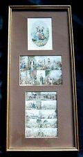 Original Uncut Abraham Le Blond Colour Needlebox Prints, c1853, Baxter Licencee