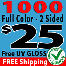 1000 CUSTOM COLOR BUSINESS CARDS + YOUR OWN DESIGN - FREE SHIPPING