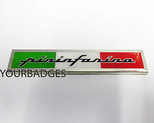 Enamel Chrome Pininfarina Italian Flag car Badge Fiat Alfa