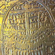 russischer Reise Altar Triptichon Reise Ikone Pilger Altar Faltaltar Messing