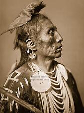 Restored Reprint Vintage Native American Photo, Medicine Crow, by Edward Curtis