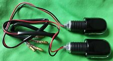 BEWLED10 - BAR END WEIGHTS & LED MARKER LIGHT For 22mm Motorbike Handlebar PAIR