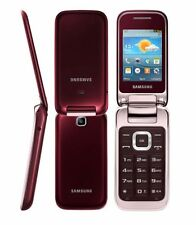 Samsung GT-C3590 Red Unlocked Big Buttons Stylish Flip Mobile Phone