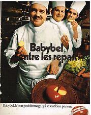 Publicité Advertising 1972 Le Fromage Babybel