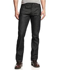 New $58 SEAN JOHN Mens W30x30L Relaxed-Straight Jeans Denim Pants Raw Black