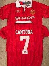 MANCHESTER UNITED MAN UNITED 92-94 Cantona 7 RED RETRO MAN UTD 93
