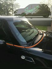 Mini Gloss Orange De-chrome beltline tape all models. Cooper, JCW, GP - 2001-16