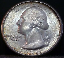 ~  1934 P Washington Quarter Medium Motto ~ Super-Nice Original Silver Coin