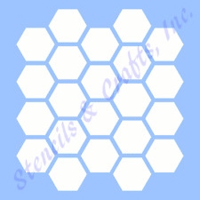 "1"" HONEYCOMB STENCIL TEMPLATE TEMPLATES BACKGROUND CRAFT STENCILS PATTERN NEW"