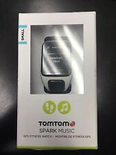 TomTom - Spark Music GPS Fitness Watch (Small) - White/Scuba Blue NEW!