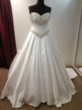 Princess Designer Wedding Bridal Dress HOLLYWOOD DREAMS TESSA - WHITE - Size 16