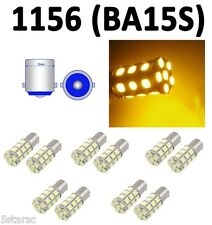 10 Pack 1156 BA15S 27 SMD 5050 LED Yellow Amber Tail Turn Signal Car Light Bulb