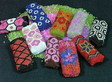Hand Made Beaded Disposable Cigarette Lighter Cover AG31 Randomly Selected Cols.