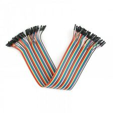 Arduino 20cm FEMALE TO FEMALE Solderless Jumper Breadboard Wires (40-Cable Pack)