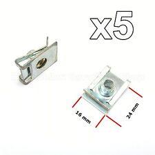 5x M6 BEFESTIGUNGSKLAMMER BLECHMUTTER KAROSSERIE BMW VW SEAT 51127070202
