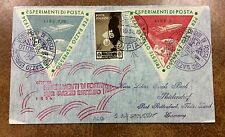 {BJSTAMPS} 1934 ITALY rocket mail cover TRIESTE - EZ1C1b experimental flight