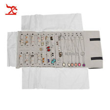 Free Shipping Portable Jewelry Display Velvet Roll Bag for 16 Necklaces Bracelet