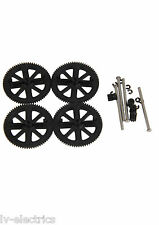 Noir moteur PIGNON gear set & shaft set for parrot ar drone 2.0 Quadcopter pour carte