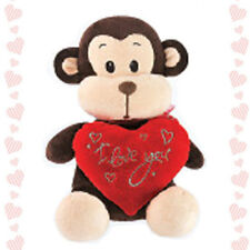 "8"" Stuffed Animal Plush Monkey I LOVE YOU Heart Toy Valentine Graduation Day"