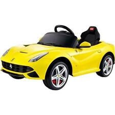 Ride On Car Toy for Kid Powered Wheels R/C Licensed 12V FERRARI F12 Yellow New