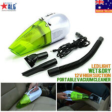 12V Portable Bagless Handheld Wet/Dry Vacuum Cleaner W/LED Light 100W