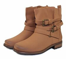 vilma-58 Fashion Ankle Casual Combat Women's motorcycle Winter Boots Tan 9.
