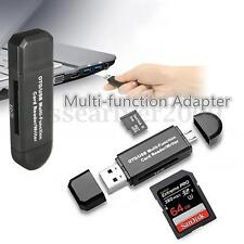 Micro USB OTG to USB 2.0 Adapter Micro SD Card Reader For Mobile Phone Tablet