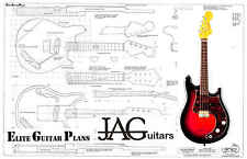 Luthiers Project Plan/Drawing for Fender style Electric Mandolin  Ideal Gift