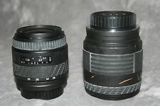 rM- CAMERA 2 LENS LOT SIGMA BRAND BUNDLED WITH MINOLTA LENS COVERS GENTLY USED