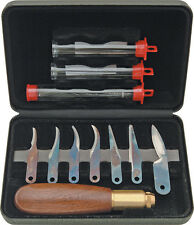 11pc Warren Cutlery WC1 Deluxe Fixed Knife Woodcarving tools Set